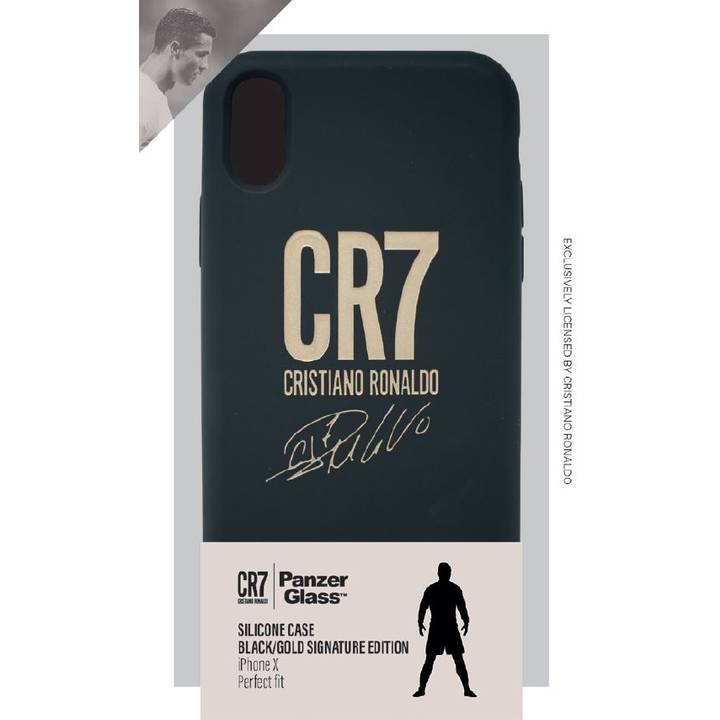 Panzerglass Silicon Case CR7 black/gold/