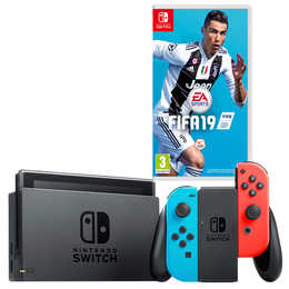 NINTENDO Switch Neon Blue/Red inkl. Fifa 19