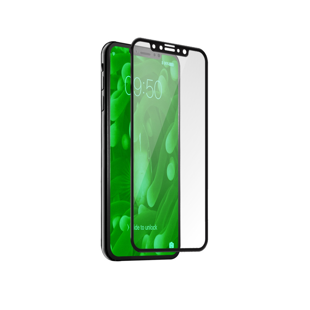 SBS Panzerglas 4D für iPhone X Black