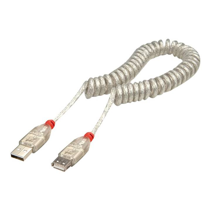 LINDY USB 2.0 spiralcable, Type A/A exte