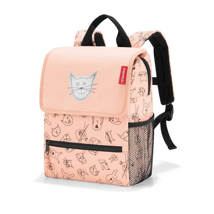 REISENTHEL Backpack Kids Cats and Dogs Pink