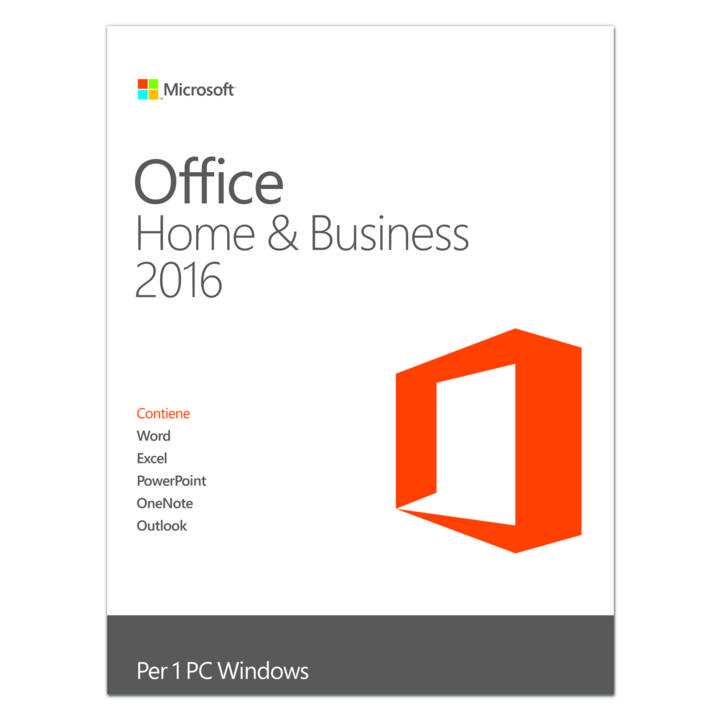 MICROSOFT Office Home & Business 2016, 1 User, ESD (IT)