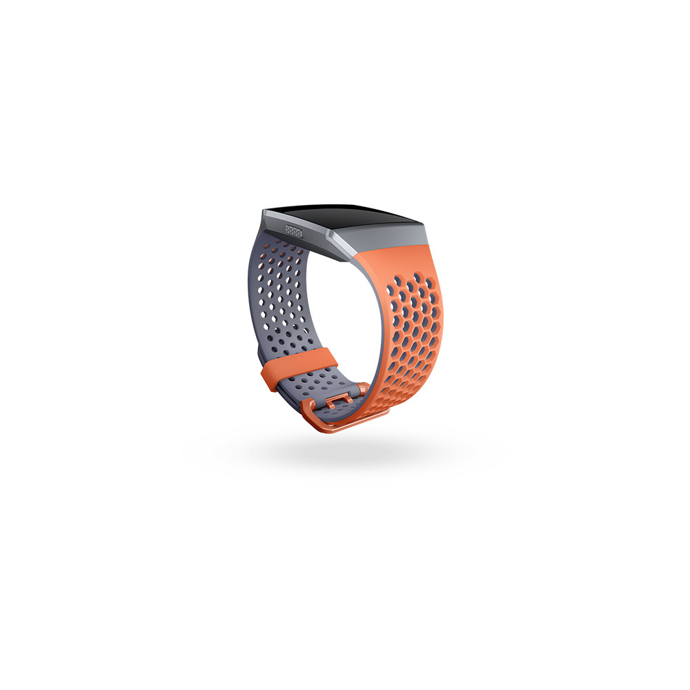 FITBIT Wechsel Sport Band Ionic Coral/Gray S