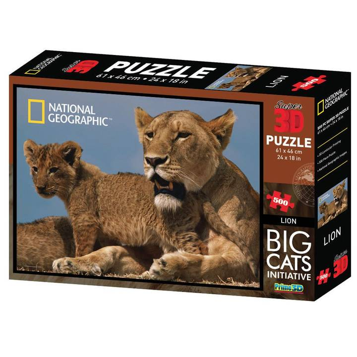 NATIONAL GEOGRAPHIC Lions 3D Puzzle, 500 Stk.