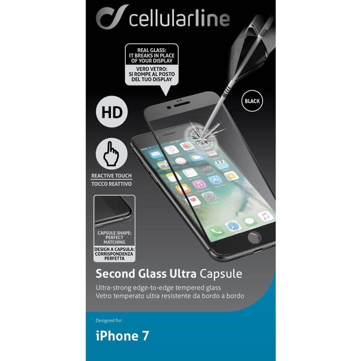 CELLULAR LINE Second Glass Ultra Capsule pour iPhone 7 & 8