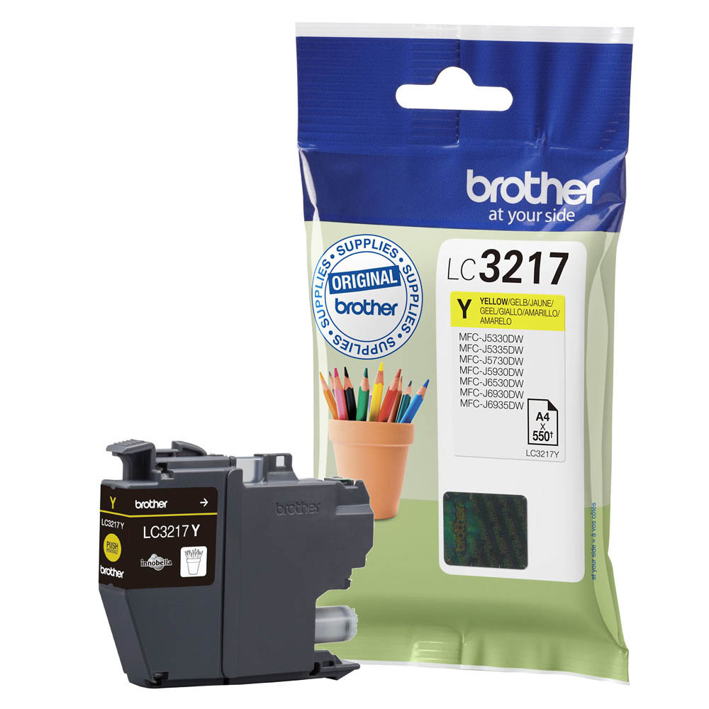 Brother LC-3217Y, Yellow, Brother, MFC-J