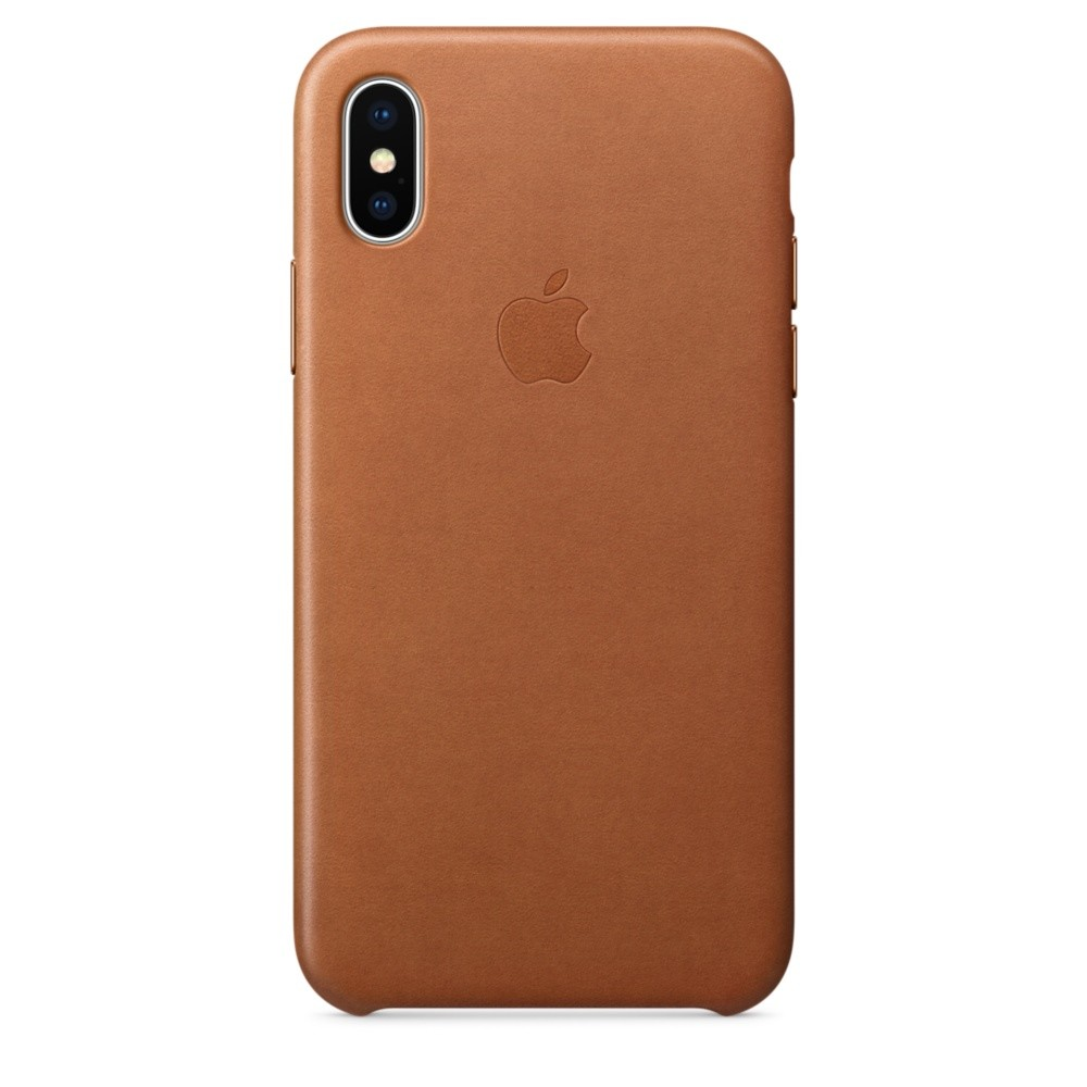APPLE iPhone X Leather Case - Saddle Bro