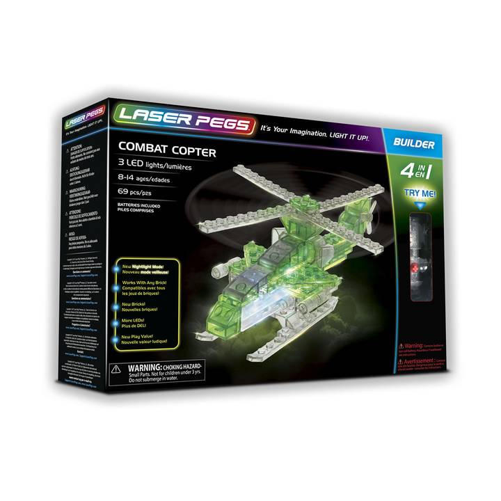Laser Pegs 4 in 1 Combat Copter Alter: 8