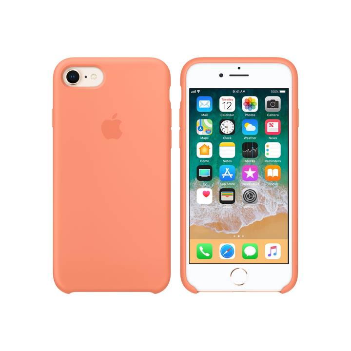 Apple iPhone 7/8 Silicone Case Peach aus