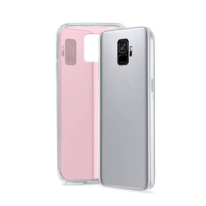 SBS Cover Glue für Samsung Galaxy S9 Rose