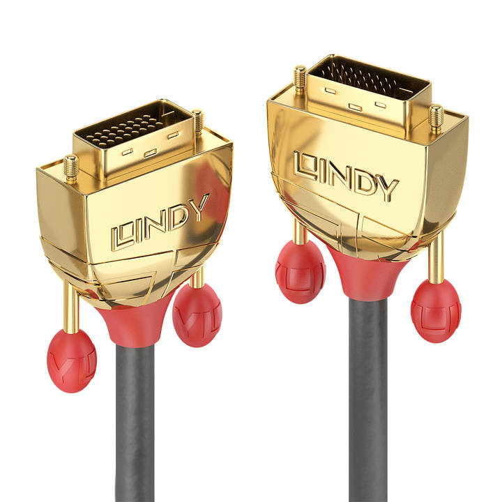 LINDY 10m DVI-D Dual Link Cable Gold Lin