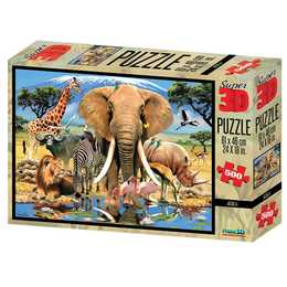 NATIONAL GEOGRAPHIC Afrika 3D Puzzle, 500 Stk.