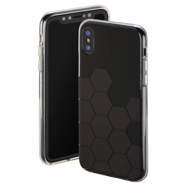 "HAMA Backcover ""Hexagon"" für Apple iPhone X"