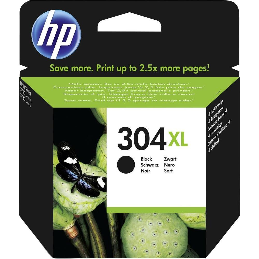 HP Ink Cartridge, 304XL, black