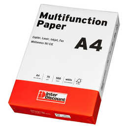 INTERDISCOUNT Multifunktionspapier A4