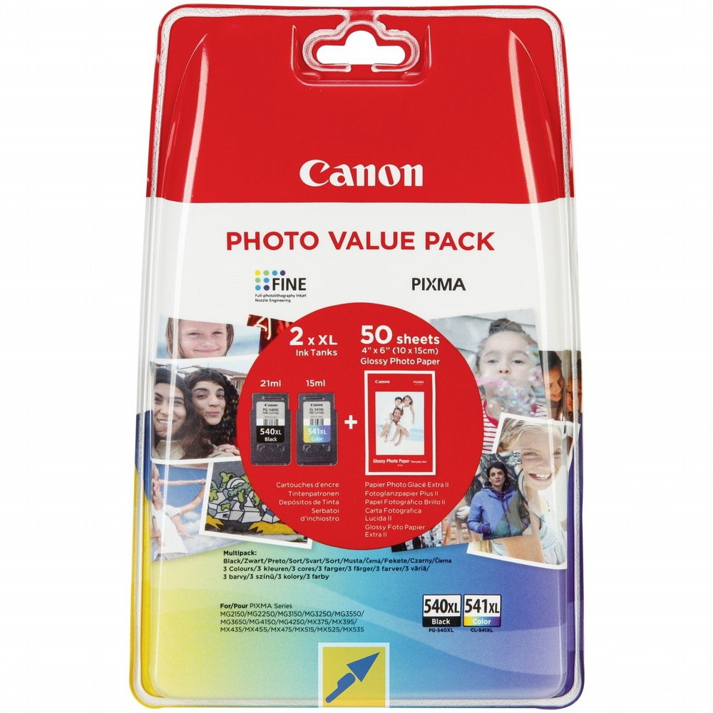 Canon Value Pack, ink + Paper