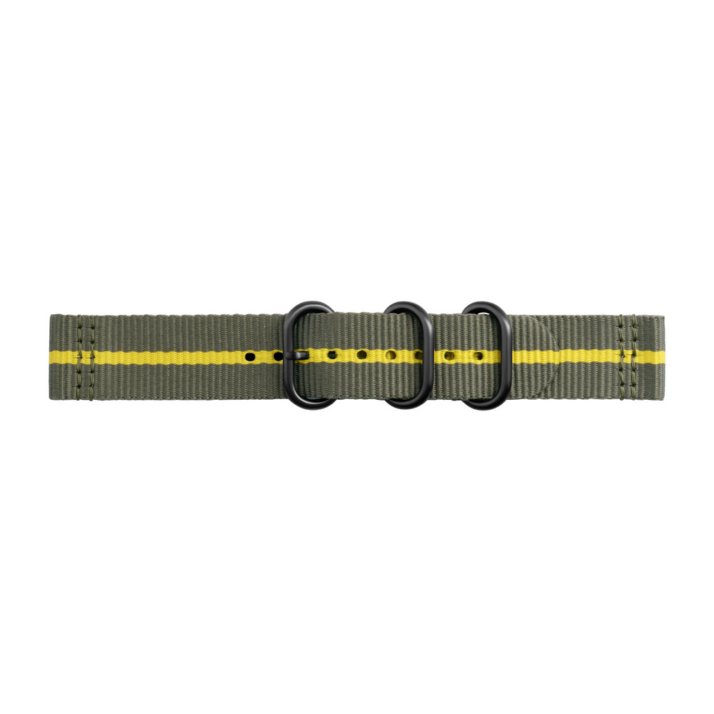 STRAP STUDIO Uhrenband Nato Nylon Grey/Yellow