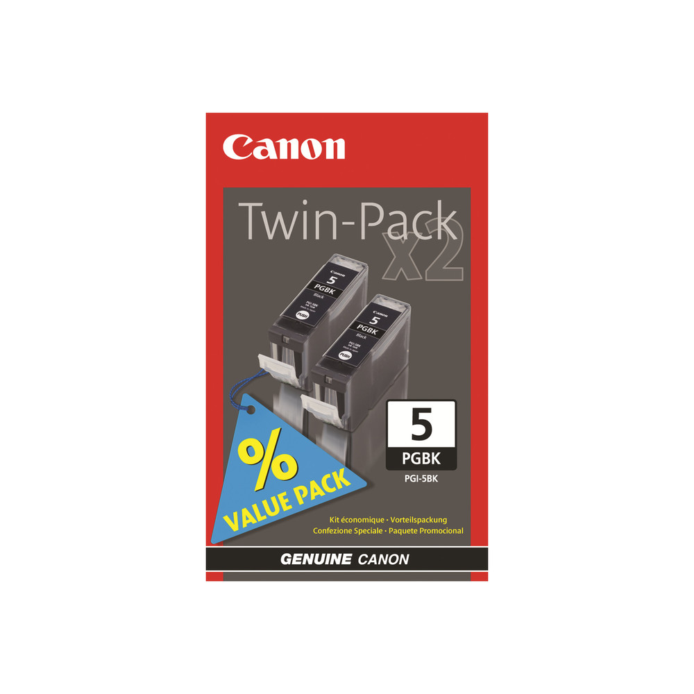 CANON PGI-5 Black Twin Pack