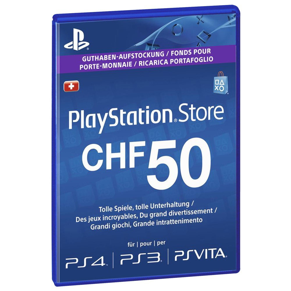 SONY PSN Live-Card CHF 50.-