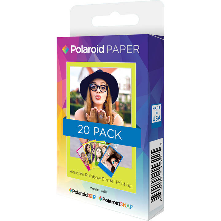 Carta fotografica POLAROID Premium ZINK Rainbow Photo Paper