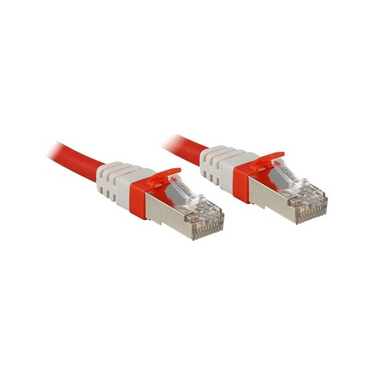 LINDY SSTP Cat.6A Cable, red, 15m LSOH,