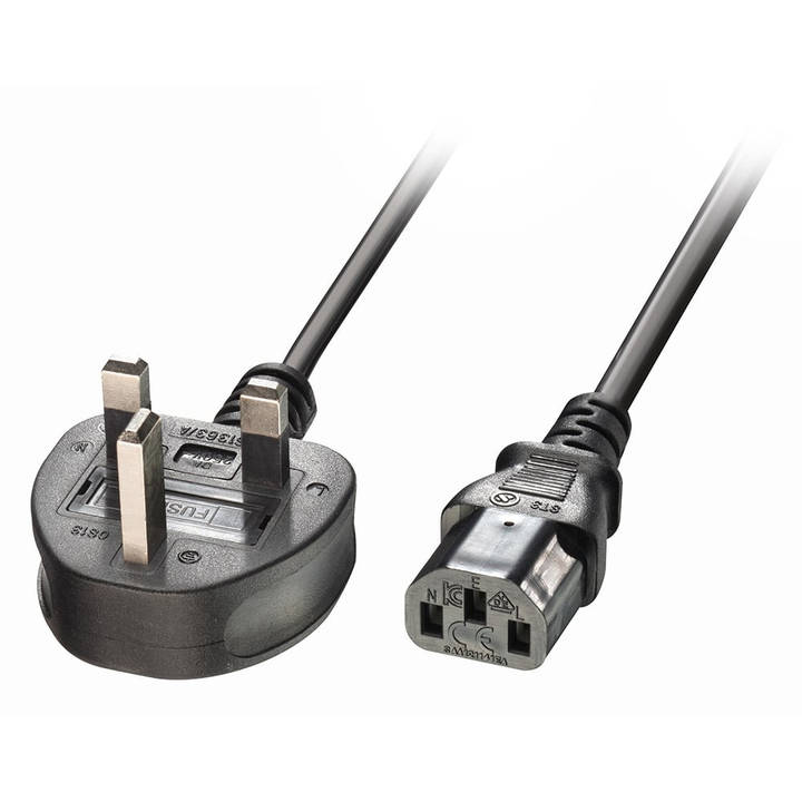LINDY 3m IEC mains lead, UK