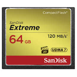 SANDISK Extreme Compact Flash 64 GB