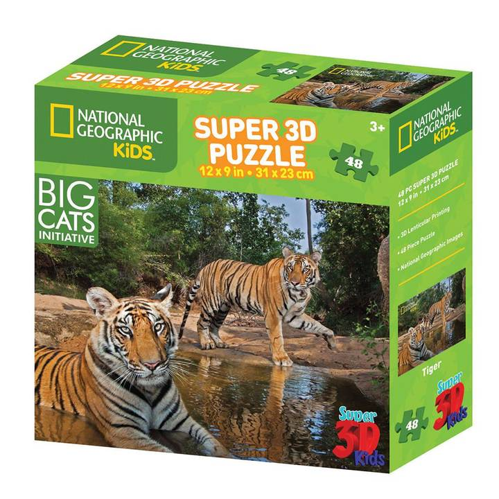 NATIONAL GEOGRAPHIC Tiger 3D Puzzle, 48 Stk.