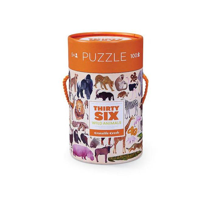 Puzzle Wildtiere Alter: 5+, 100 Teile