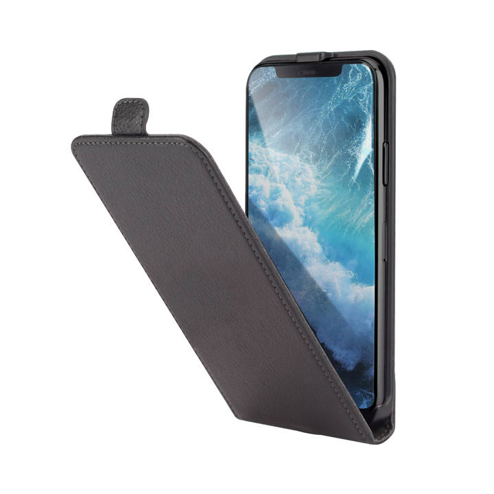 INTERTRONIC Flip Cover für iPhone X Black