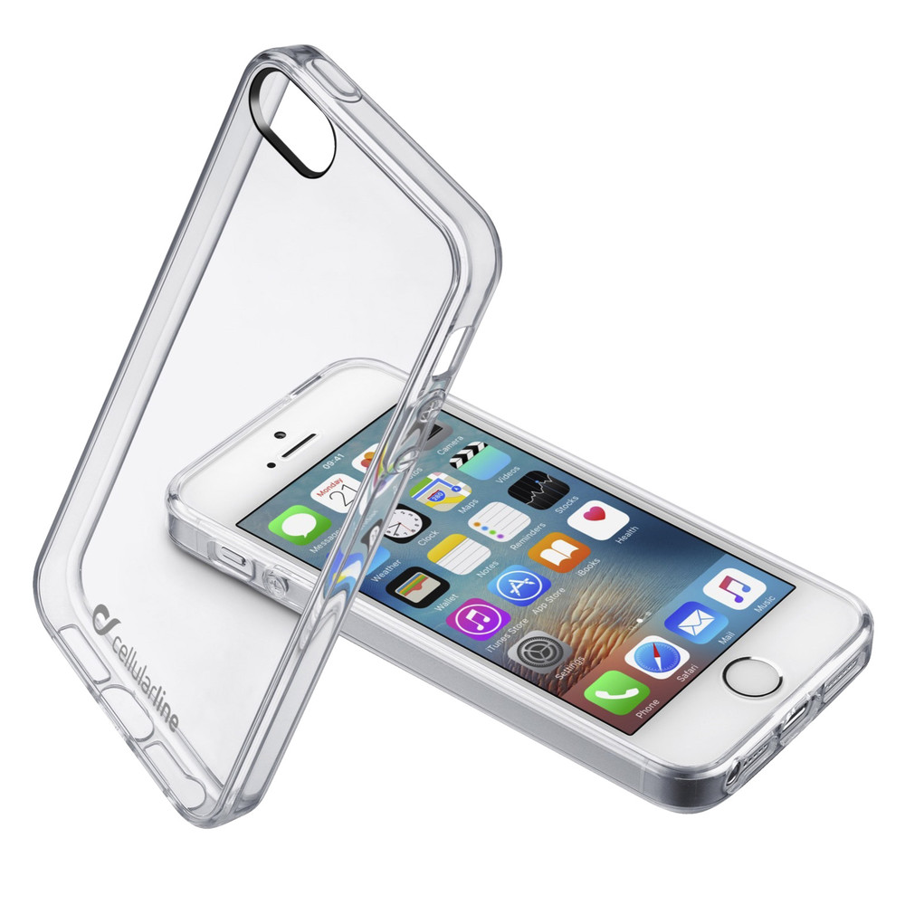 CELLULAR Clear Crystal Clear Duo für iPhone SE/5/5s