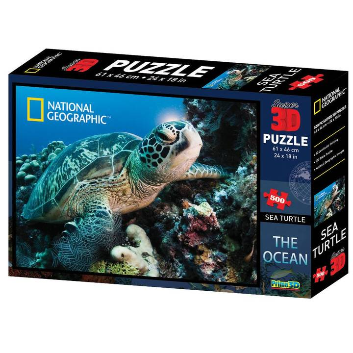 NATIONAL GEOGRAPHIC Turtle 3D Puzzle, 500 Stk.