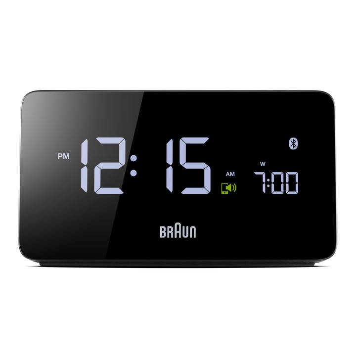 BRAUN BNC020 Digitaluhr mit Bluetooth Black
