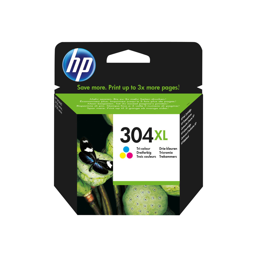 HP Ink Cartridge,304XL tricolo