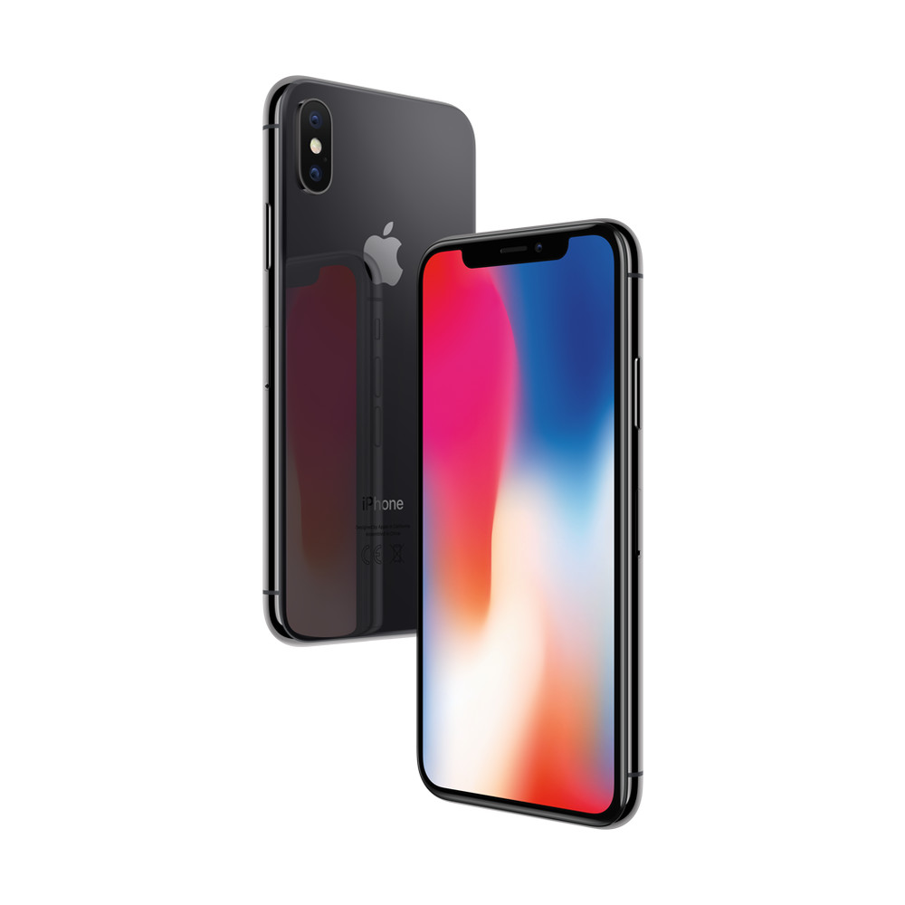 APPLE iPhone X 256 GB Space Grau