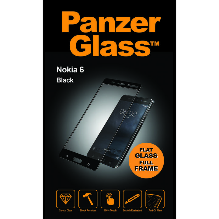 PANZERGLASS Screen Protector, Nokia 6, Black