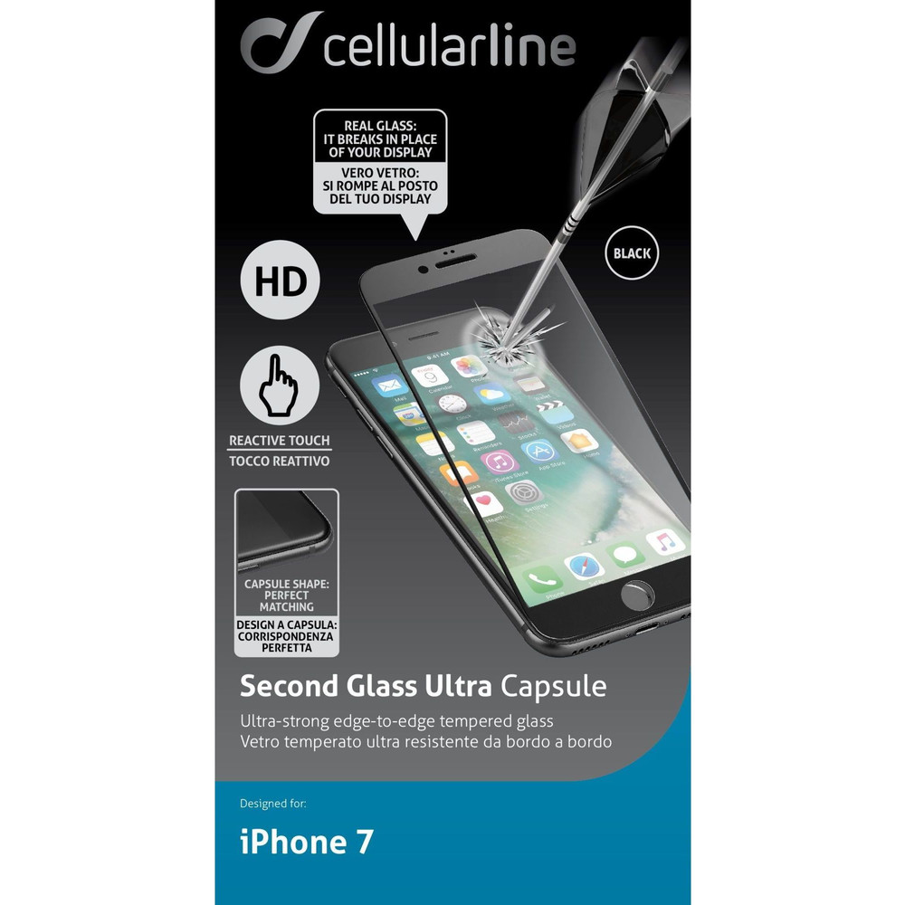 CELLULAR LINE Second Glass Ultra Capsule für iPhone 7 & 8