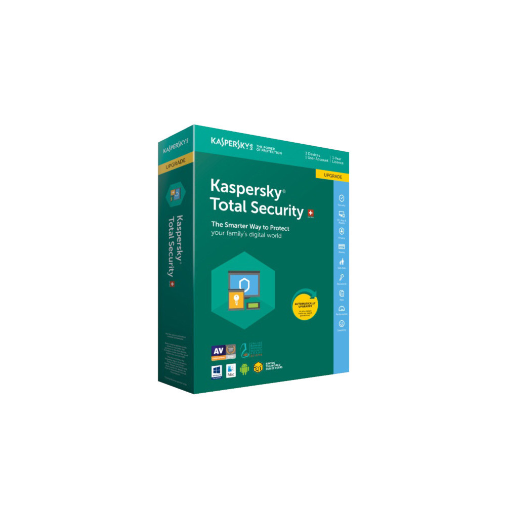 KASPERSKY Total Security Upgrade SWISS EDITION (Version DFI)
