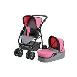 KNORRTOYS Puppenwagen Coco jeans grey