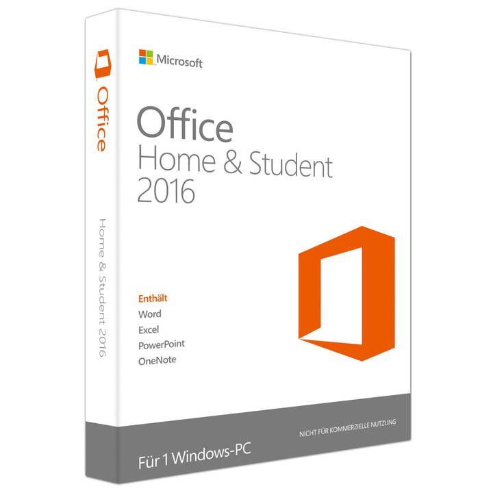 MICROSOFT Office Home and Student 2016 (Version I)