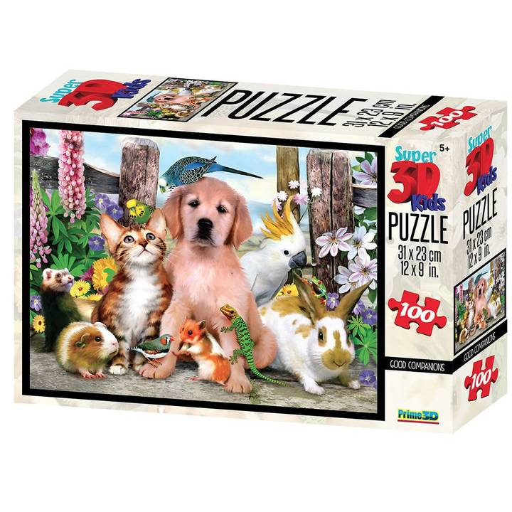 NATIONAL GEOGRAPHIC 3D Puzzle Good friends 100 pcs.
