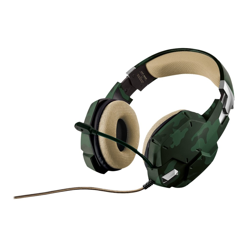 Trust GXT 322C Gaming Headset green camo
