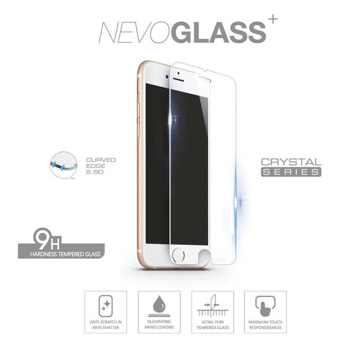 NEVOX Displayschutz Tempered Glass für iPhone 6 / 7 / 8