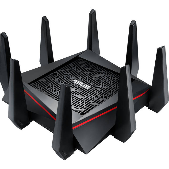 Asus RT-AC5300 Dualband WLAN Modem-Router, Black/Red