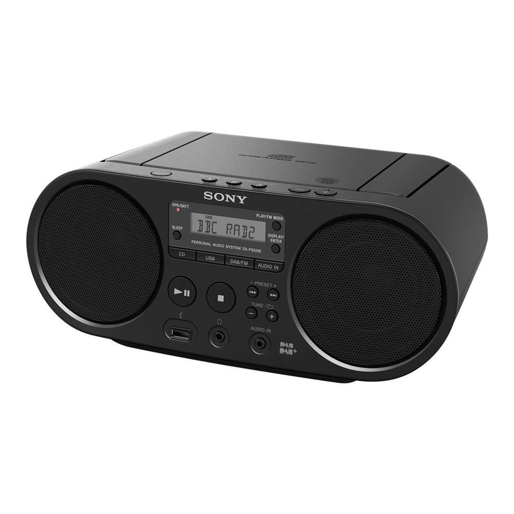 SONY Boombox ZS-PS55 Black