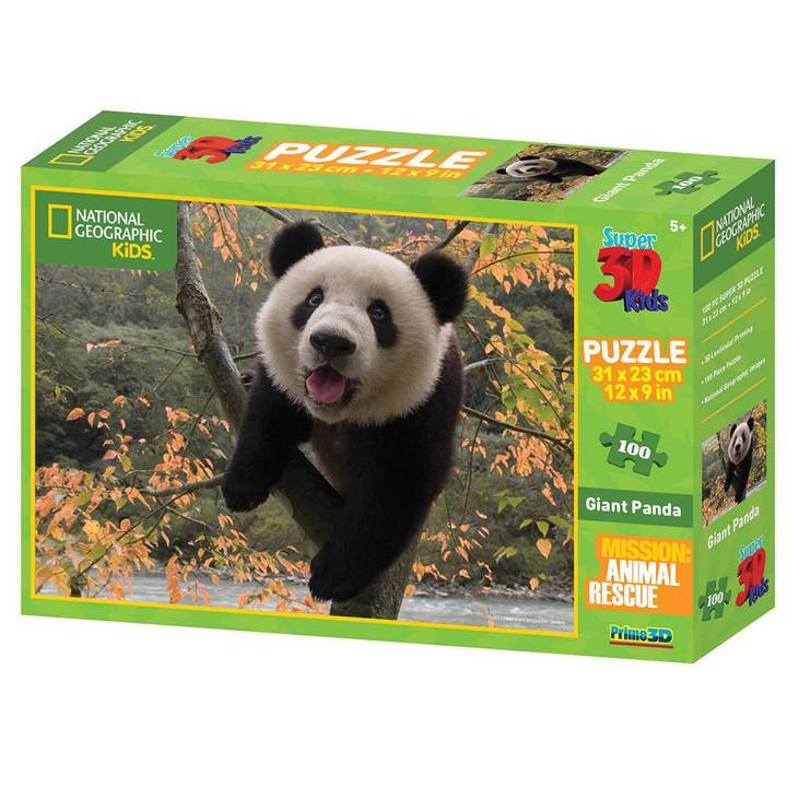 NATIONAL GEOGRAPHIC Panda 3D Puzzle, 100 Stk.