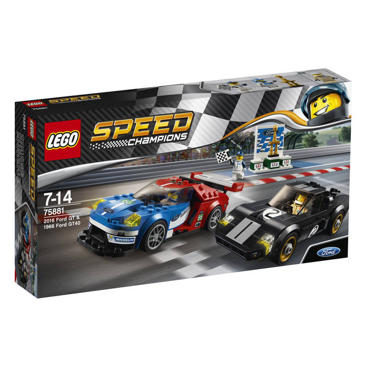 LEGO Speed Champions 2016 Ford GT 2016 & 1966 Ford GT40 (75881)